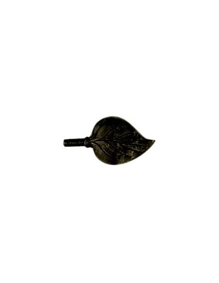 Embout Feuille 19mm Laqué Noir