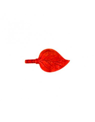 Embout Feuille 19mm Laqué Rouge