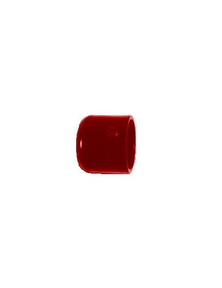 Embout Bouchon 19mm Laqué Rouge