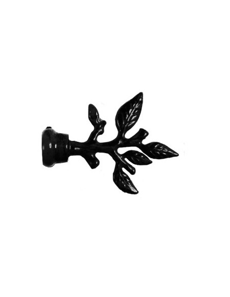 Embout Vigne 19mm Laqué Noir
