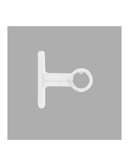 Support plafond 19mm Laqué Blanc