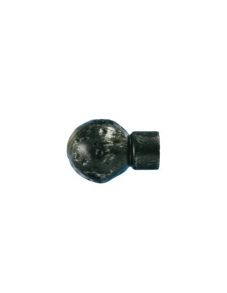 Emb Boule martelée 28mm Noir