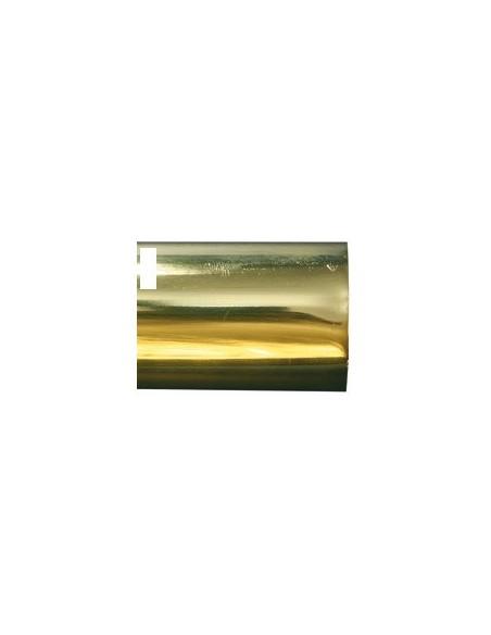 Tube laiton Poli Verni 40mm plein L500