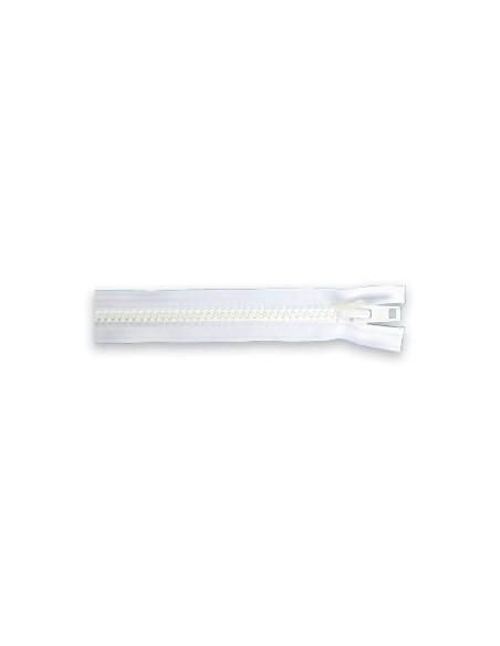 Fermeture YKK 10 blanc séparable double tirette chaine 9 mm