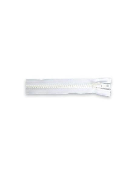 Fermeture YKK 10 blanc séparable simple tirette chaine 9 mm